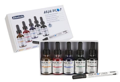 AQUA DROP 5 väriä ja liner -kynä