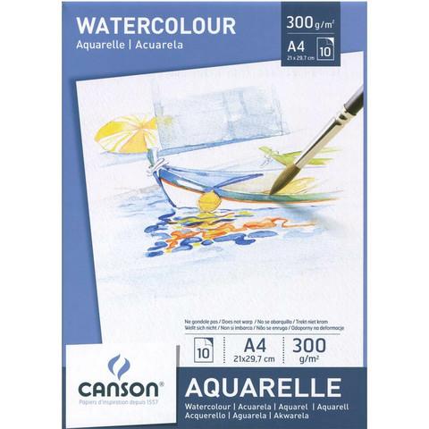 Akvarellilehtiö Aquarelle A4 300g 10 arkkia