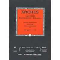 Vesivärilehtiö Arches A4 karkea 300g 12 sivua