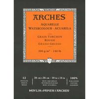 Vesivärilehtiö Arches 26x36cm karkea 300g 12 sivua. Erikoiskoko.