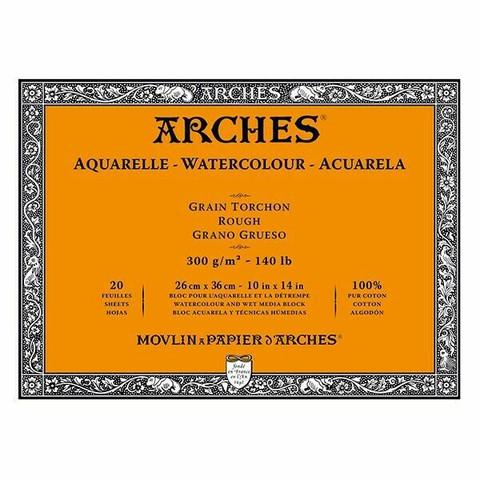 Vesivärilehtiö Arches Block 26x36 karkea 300 g 20 sivua