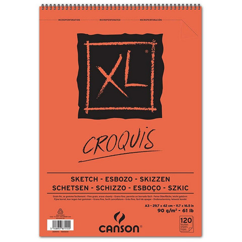 Luonnoslehtiö Canson Croquis A3 90g 120 sivua