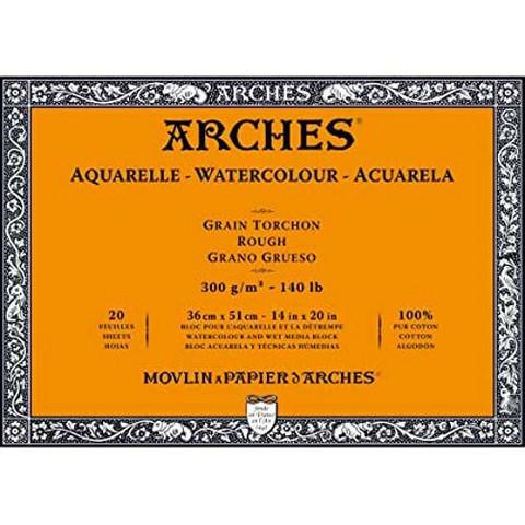 Vesivärilehtiö Arches Block 36x51 karkea 300 g 20 sivua
