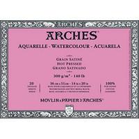 Vesivärilehtiö Arches Block 36x51 sileä 300 g 20 sivua