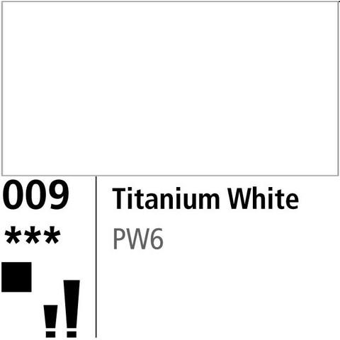 DR Aquafine Gouache 009 38ml Titanium White
