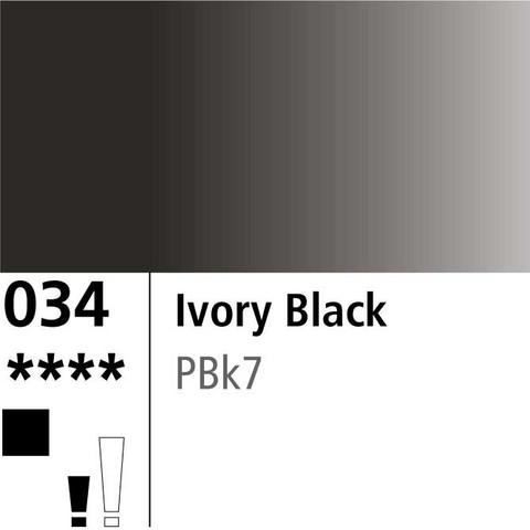 DR Aquafine Gouache 034 15ml Ivory Black