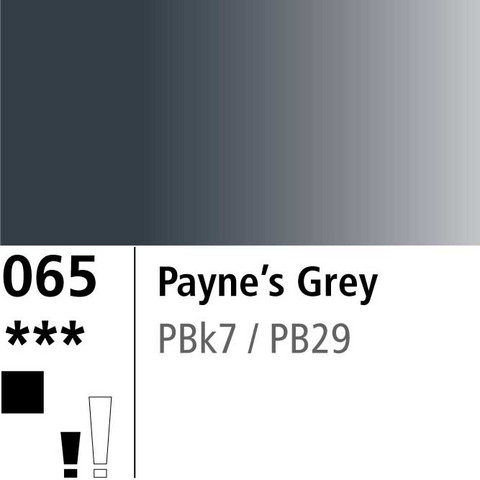 DR Aquafine Gouache 065 15ml Paynes Grey