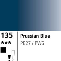 DR Aquafine Gouache 135 15ml Prussian Blue