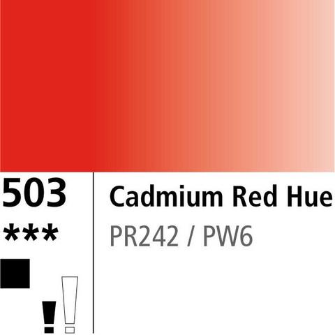 DR Aquafine Gouache 503 15ml Cadm Red Hue