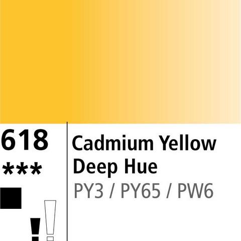 DR Aquafine Gouache 618 15ml Cadm Yellow Deep Hue