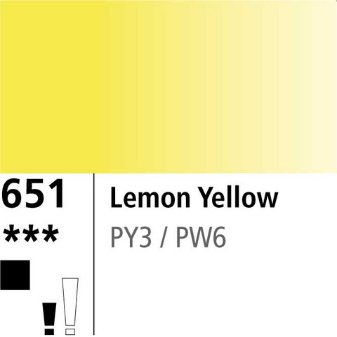 DR Aquafine Gouache 651 15ml Lemon Yellow