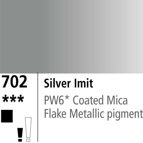 DR Aquafine Gouache 702 15ml Silver (Imit)