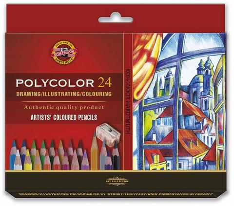 Kohinoor Polycolor puuvärit 24 kynää