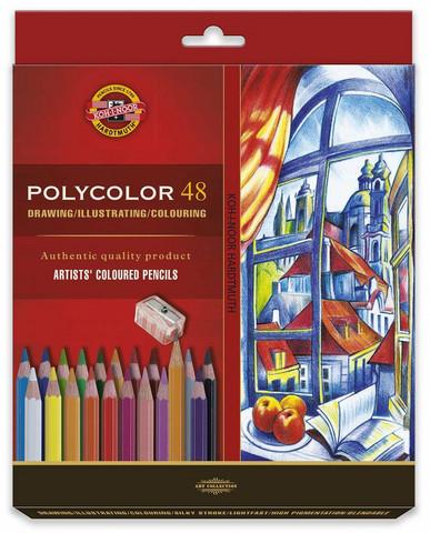 Kohinoor Polycolor puuvärit 48 kynää