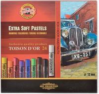 Kohinoor Toison artist extrasoft pastel 24 kuivaliitua