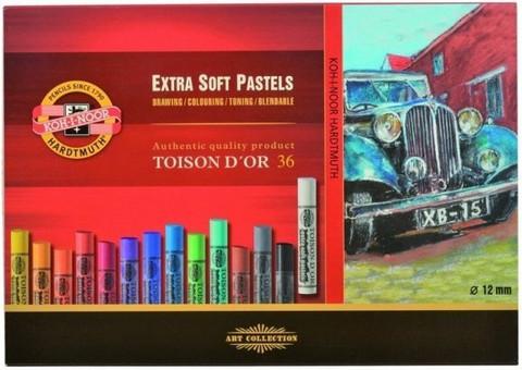 Kohinoor Toison artist extrasoft pastel 36 kuivaliitua