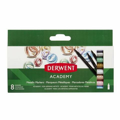 Derwent Academy metallic markers 8 tussia