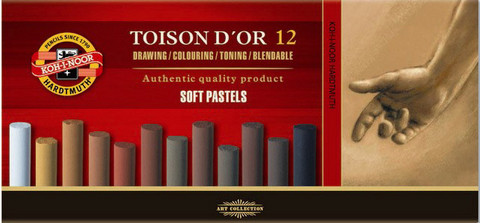 Kohinoor Toison D´or 12 ruskean sävyistä kuivapastellia