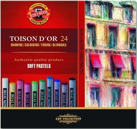 Kohinoor Toison D´or 24 kuivapastellia, perusvärit