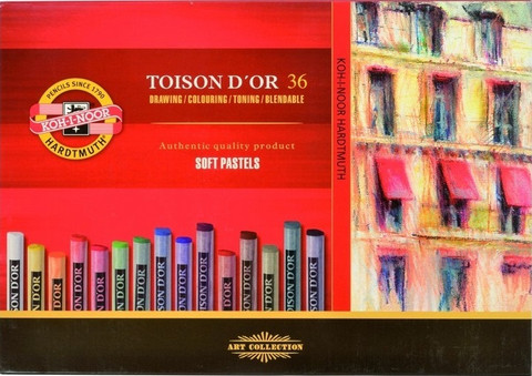 Kohinoor Toison D´or 36 kuivapastellia, perusvärit