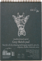 Luonnoslehtiö SMLT Grey sketch A5 20 harmaata sivua