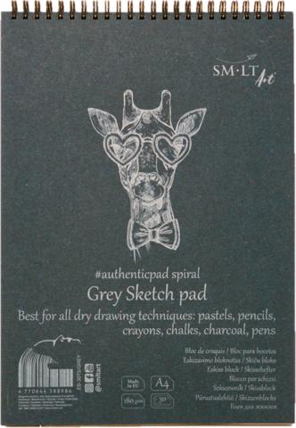 Luonnoslehtiö SMLT Grey sketch A4 20 harmaata sivua
