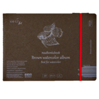 Vesivärilehtiö SMLT 24 x 18cm ruskea paperi 280g