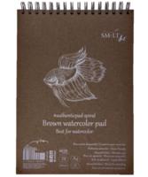 Vesivärilehtiö SMLT A5 ruskea paperi 280g