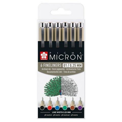 Sakura Pigma 6 micron pens, eri värejä 01