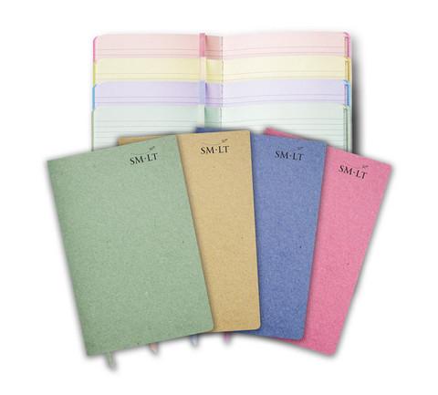 SMLT muistikirjasetti. 4 eri väristä lehtiötä A5 kokoinen