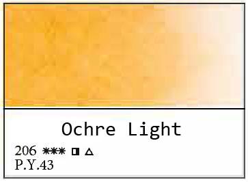White Nights akvarellinappi 206 Ochre Light