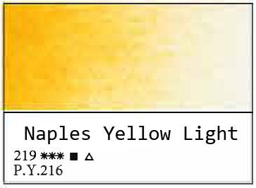 White Nights akvarellinappi 219 Naples Yellow Light