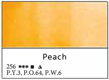 White Nights akvarellinappi 256 Peach