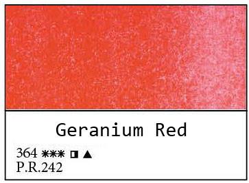 White Nights akvarellinappi 364 Geranium Red