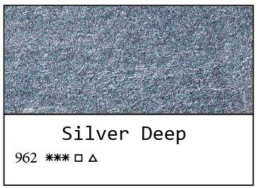 White Nights akvarellinappi 962 Metallic Silver Deep