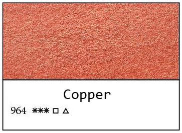 White Nights akvarellinappi 964 Metallic Copper