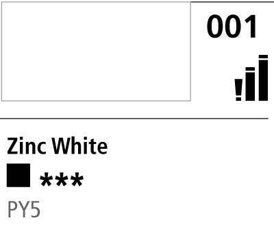 DR Cryla acrylic 75ml 001 Zinc white