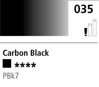 DR Cryla acrylic 75ml 035 Carbon black