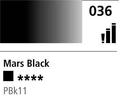 DR Cryla acrylic 75ml 036 Mars black