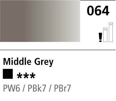DR Cryla acrylic 75ml 064 Middle grey