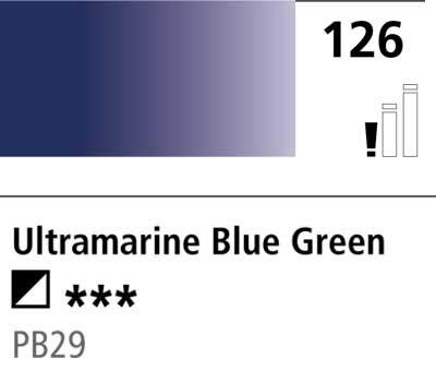 DR Cryla acrylic 75ml 126 Ultram blue green shade