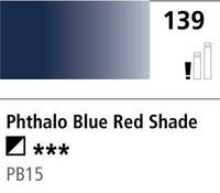 DR Cryla acrylic 75ml 139 Phthalo blue red shade