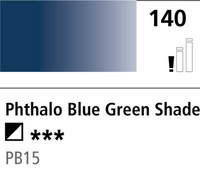 DR Cryla acrylic 75ml 140 Phthalo blue green shade