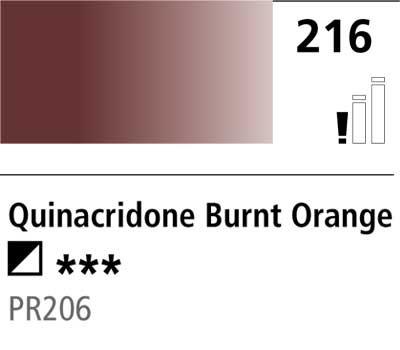 DR Cryla acrylic 75ml 216 Quinacrid burnt orange