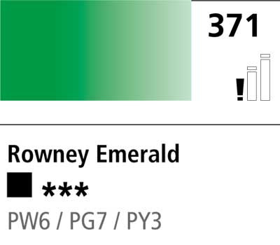 DR Cryla acrylic 75ml 371 Rowney emerald