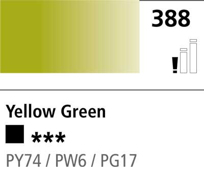 DR Cryla acrylic 75ml 388 Yellow green