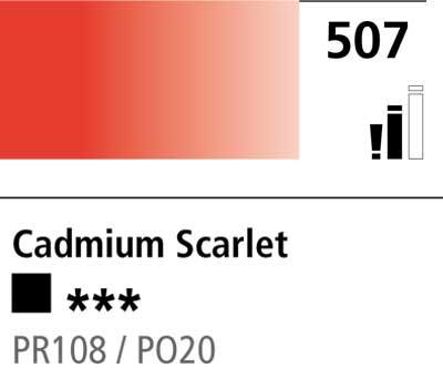 DR Cryla acrylic 75ml 507 Cadmium scarlet