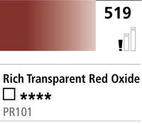 DR Cryla acrylic 75ml 519 Rich transp red oxide