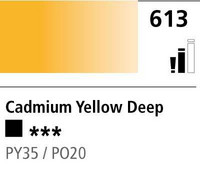 DR Cryla acrylic 75ml 613 Cadmium yellow deep