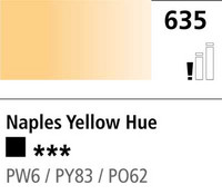 DR Cryla acrylic 75ml 635 Naples yellow (hue)